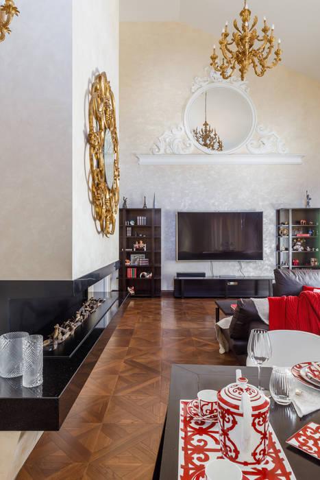 Дом с круглым окном: Гостиная в . Автор – Студия дизайна Светланы Исаевой