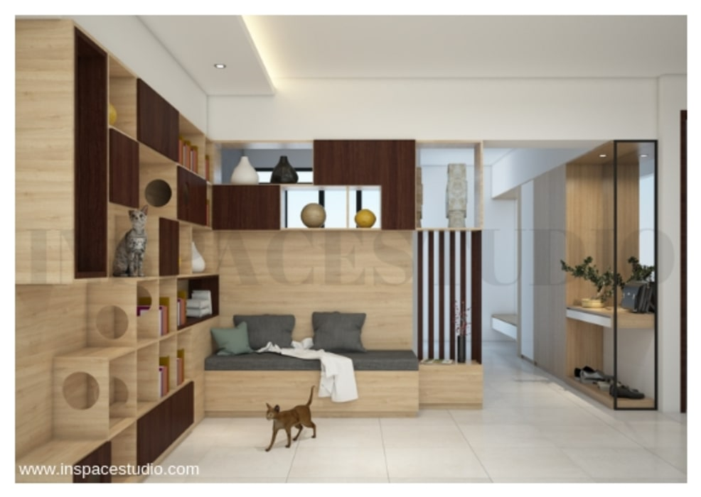 Area Pintu Masuk Koridor & Tangga Modern Oleh Inspace Studio Modern