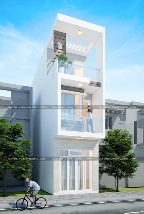 Bản vẽ thiết kế nhà rộng 3m:  Nhà by Công ty cổ phần tư vấn kiến trúc xây dựng Nam Long