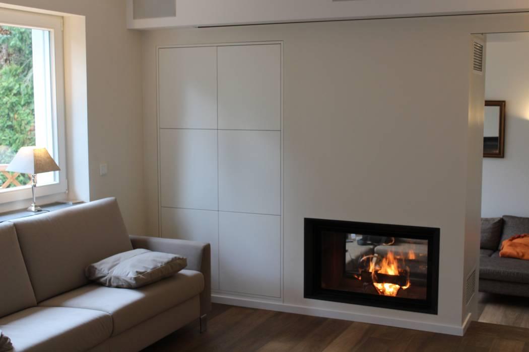 Projekty,  Salon zaprojektowane przez Christoph Lüpken Ofenbau GmbH - Kamine aus Duesseldorf,
