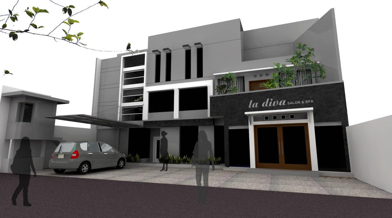 facade design daun architect Rumah Minimalis