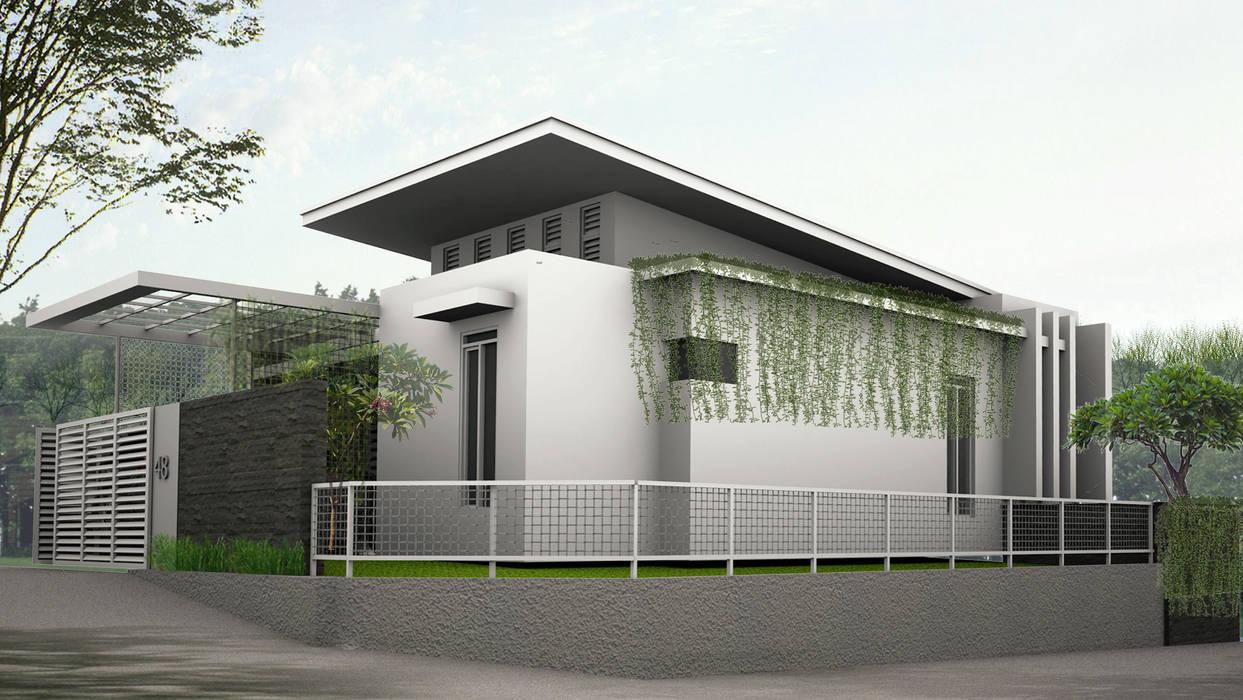 rumah tinggal di vila asri selatan II daun architect Rumah Gaya Industrial