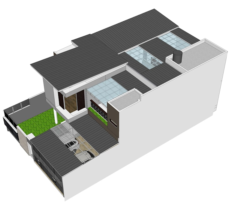 rumah di pasir jaya daun architect Atap