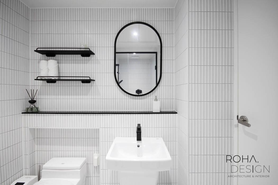 명륜2차 아이파크 34평 인테리어: 로하디자인의  욕실