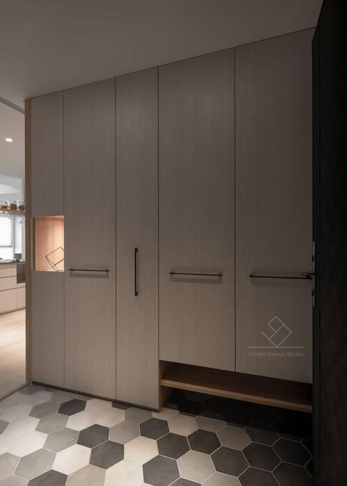 新竹陳宅-清新北歐 斯堪的納維亞風格的走廊,走廊和樓梯 根據 極簡室內設計 Simple Design Studio 北歐風