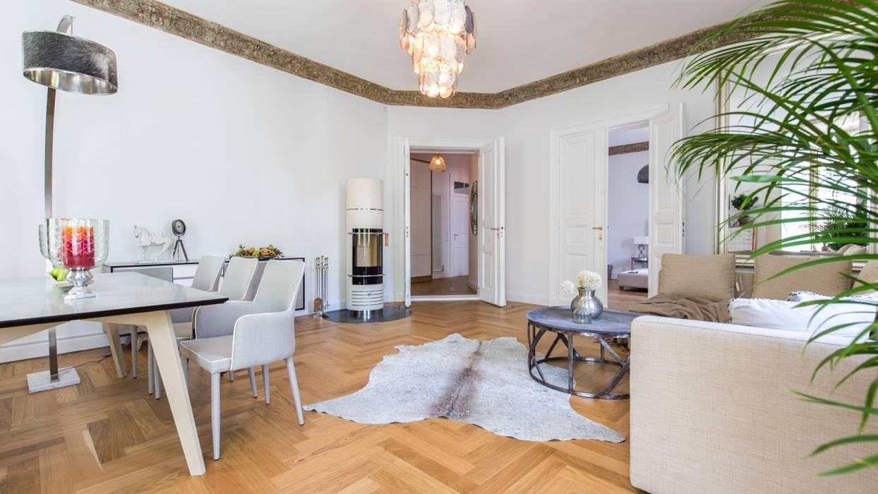 Berliner Altbauwohnung Stilvoll Eingerichtet Wohnzimmer Von