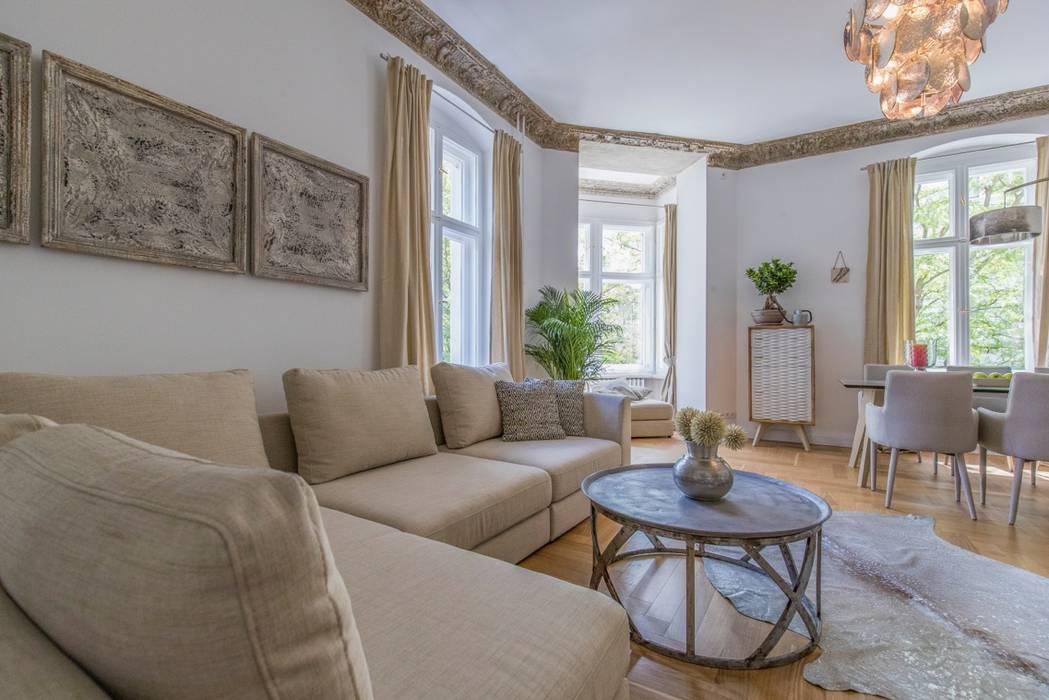 Berliner altbauwohnung stilvoll eingerichtet: wohnzimmer von ...