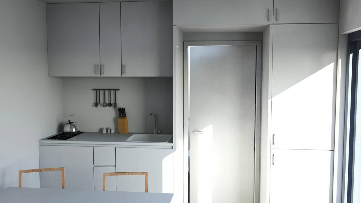 Bungalow T0 – 36m² - Interior - 3 por goodmood - Soluções de Habitação Moderno