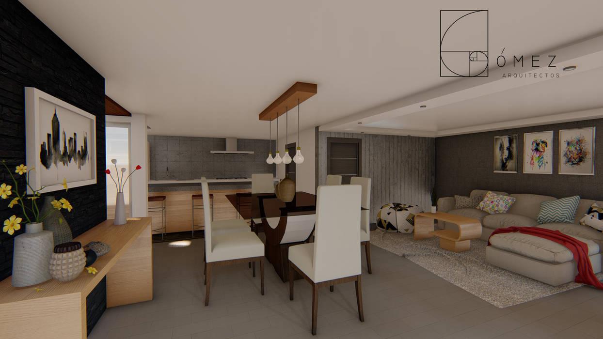 Modern dining room by GóMEZ arquitectos Modern