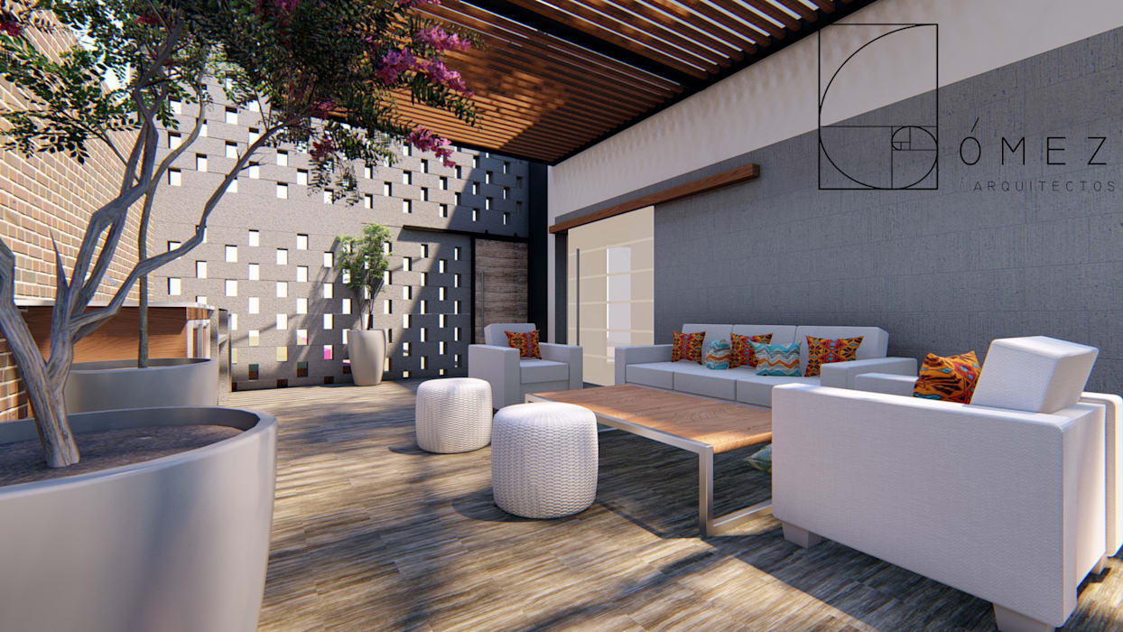 sueños rediseñados: Terrazas de estilo  por GóMEZ arquitectos
