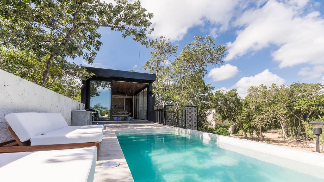 Villa Lagú 18 Tulum de Obed Clemente Arquitectos Tropical Concreto