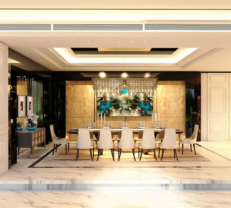 Luxury Bungalow:  Dining room by Norm designhaus,