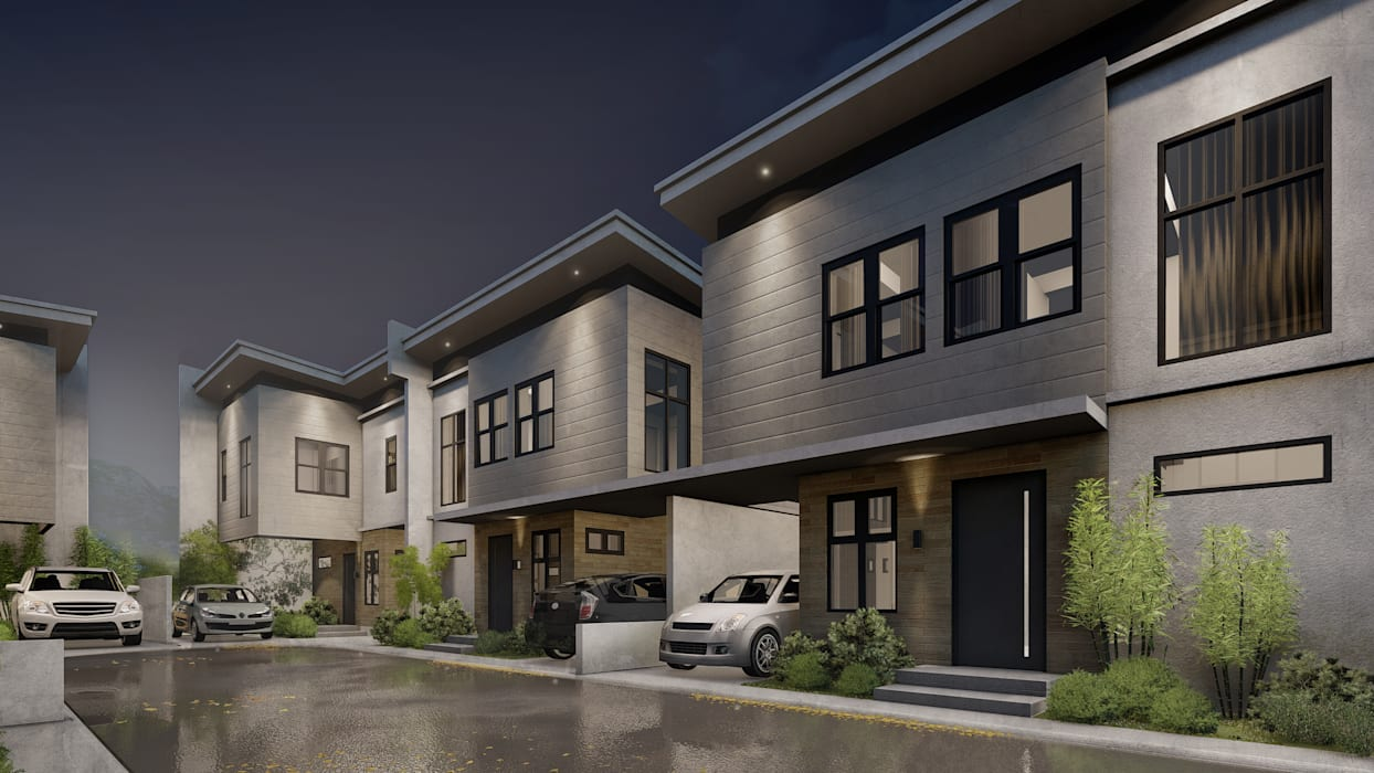 A Proposed 6 Unit Residential Development Modern home by Studio Each Modern