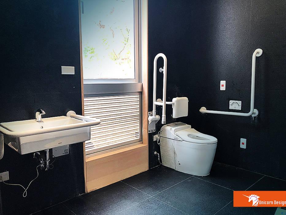 無障礙廁所 根據 Unicorn Design 現代風