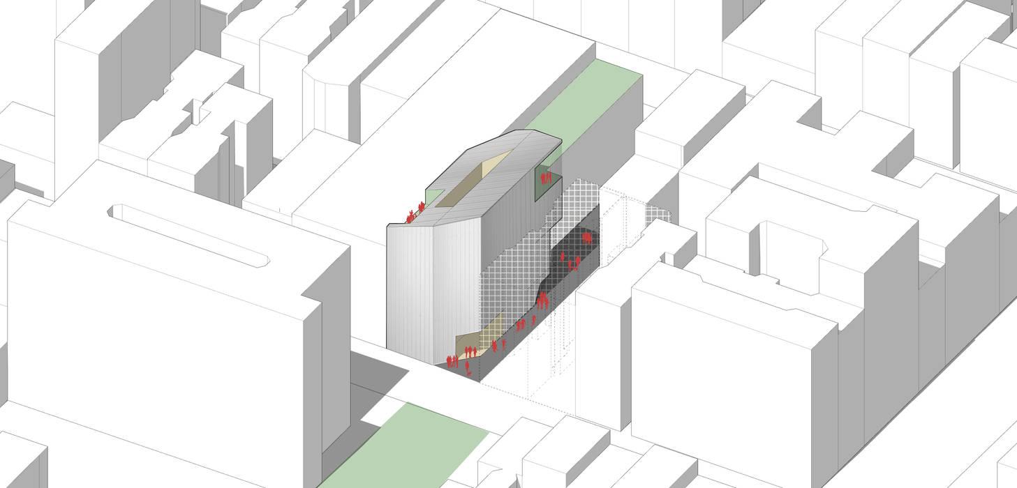Fachada exterior de East 3rd Street, entre Bowery y 2nd Avenue. Casas estilo moderno: ideas, arquitectura e imágenes de Fabrizio Romero Carvajal Moderno Hierro/Acero