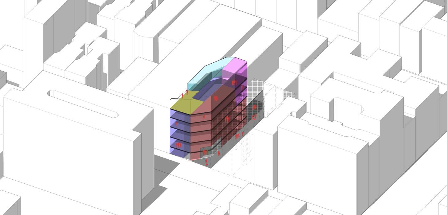 Primera Propuesta de Organización interior. de Fabrizio Romero Carvajal Moderno Concreto reforzado