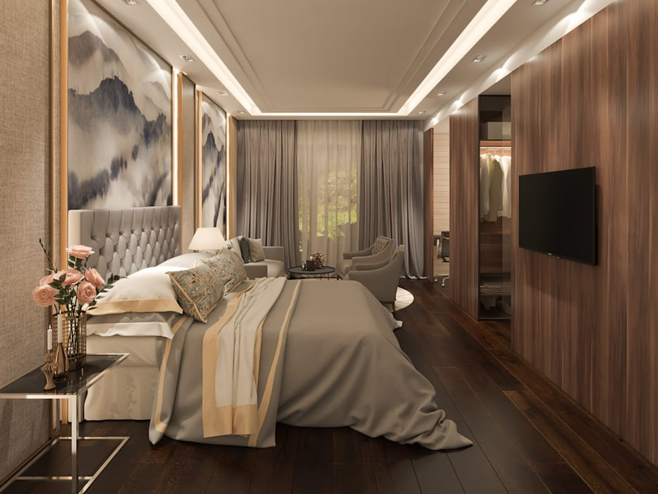 Resort Style at Kew Crescent :  Bedroom by Singapore Carpentry Interior Design Pte Ltd,Classic