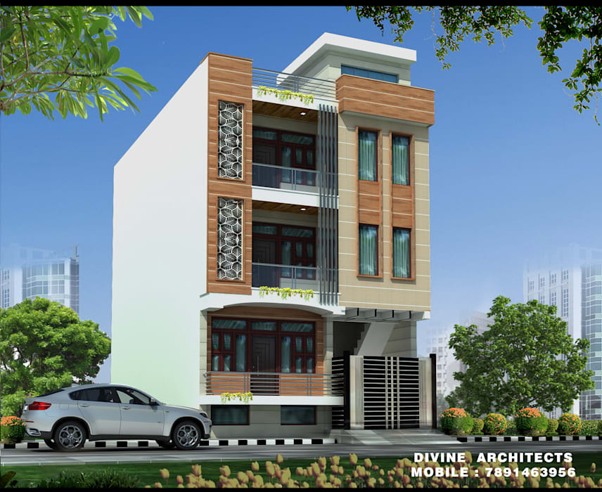 exterior designs:   by divine architects