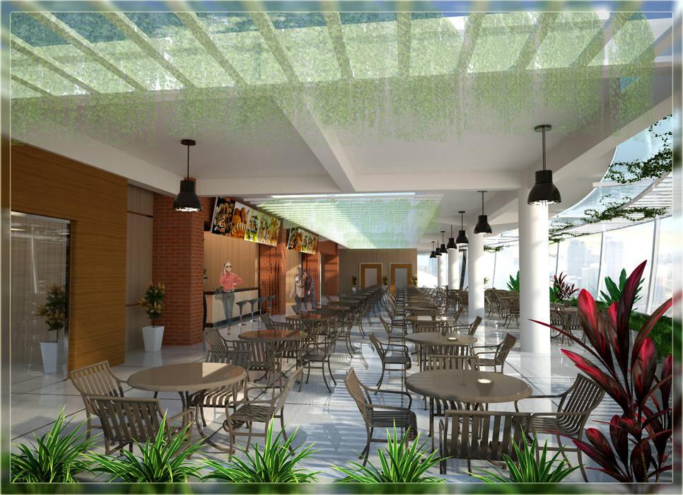 Rooftop Restoran GM suit Semarang:  oleh Arsitekpedia,