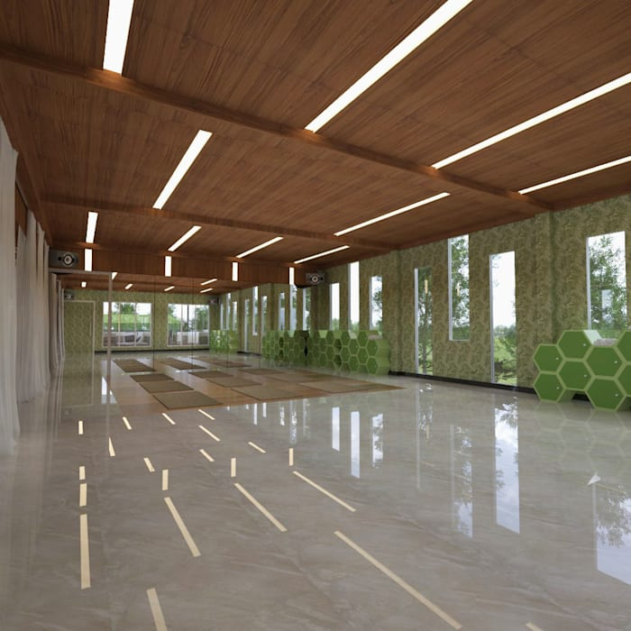 Ruang yoga Oleh Arsitekpedia