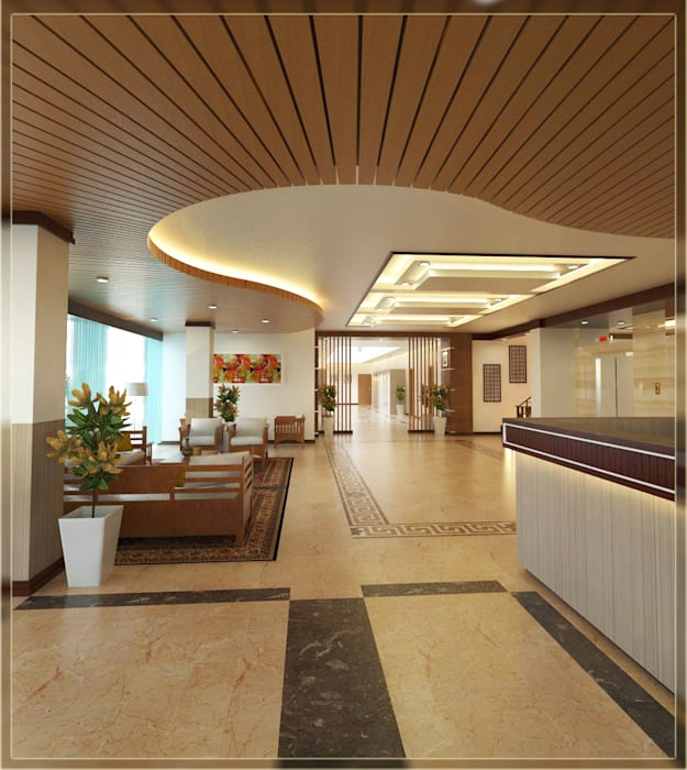 Lobby Hotel 1 Hotel Gaya Rustic Oleh Arsitekpedia Rustic