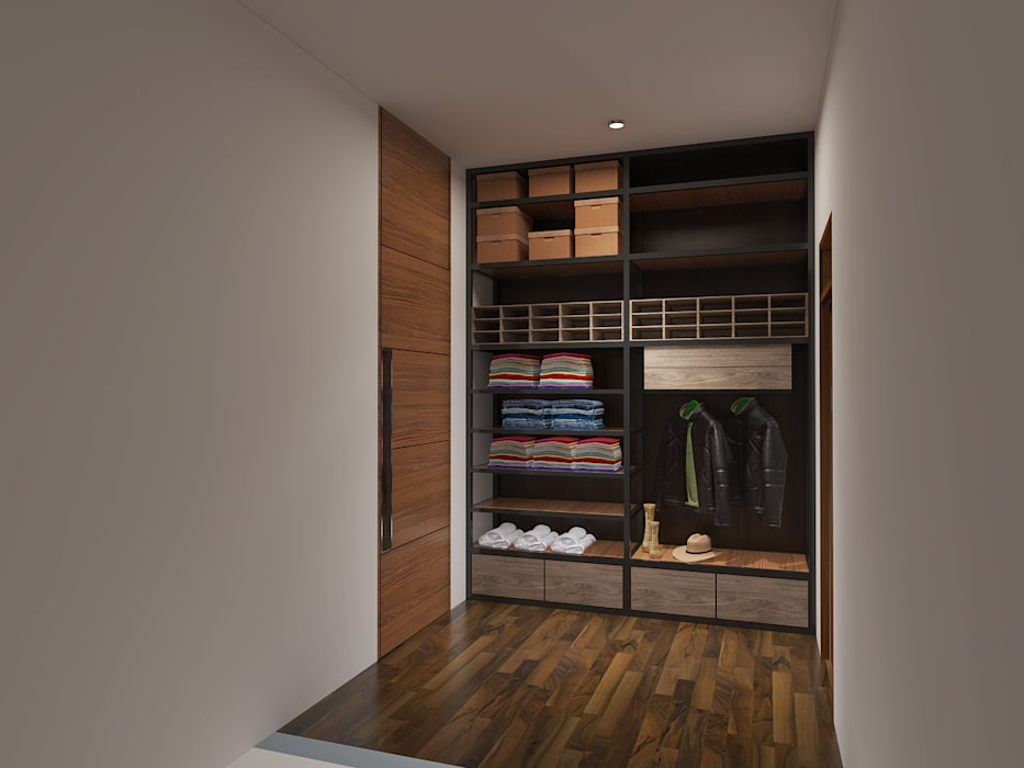 Desain Lemari Pakaian:  Dressing room by Arsitekpedia