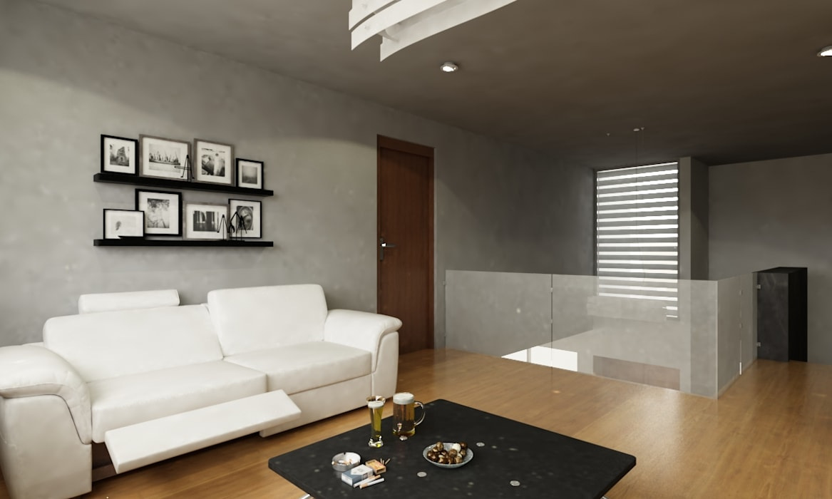 Modern living room by OLLIN ARQUITECTURA Modern Solid Wood Multicolored