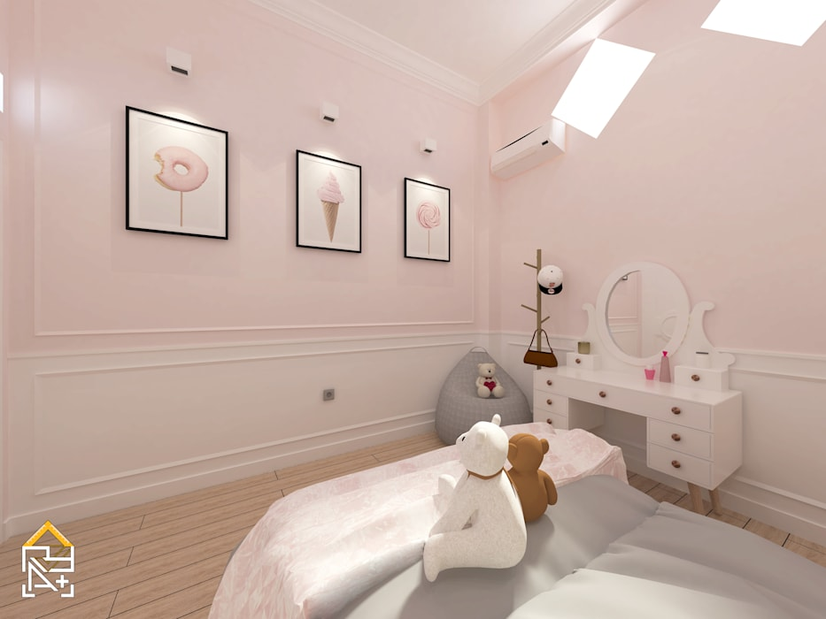 Bedroom corner with make up table: Kamar tidur kecil oleh JRY Atelier, Modern