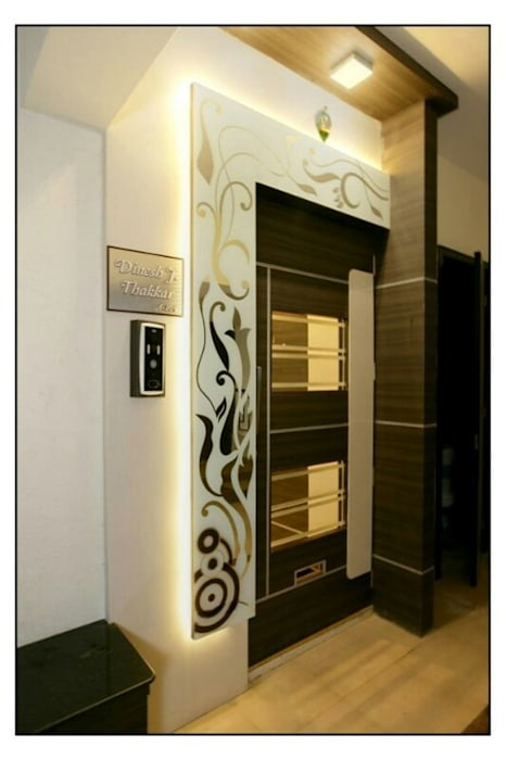 Safety door designs Modern style doors by HOMEDIGILAND SERVICES PRIVATE LIMITED Modern