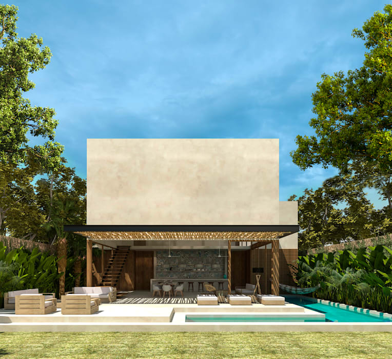 Villas by Obed Clemente Arquitectos, Tropical Concrete