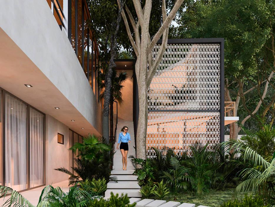 Tangga oleh Obed Clemente Arquitectos, Tropis Beton