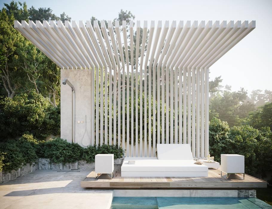 : Piletas de jardín de estilo  por TABARQ