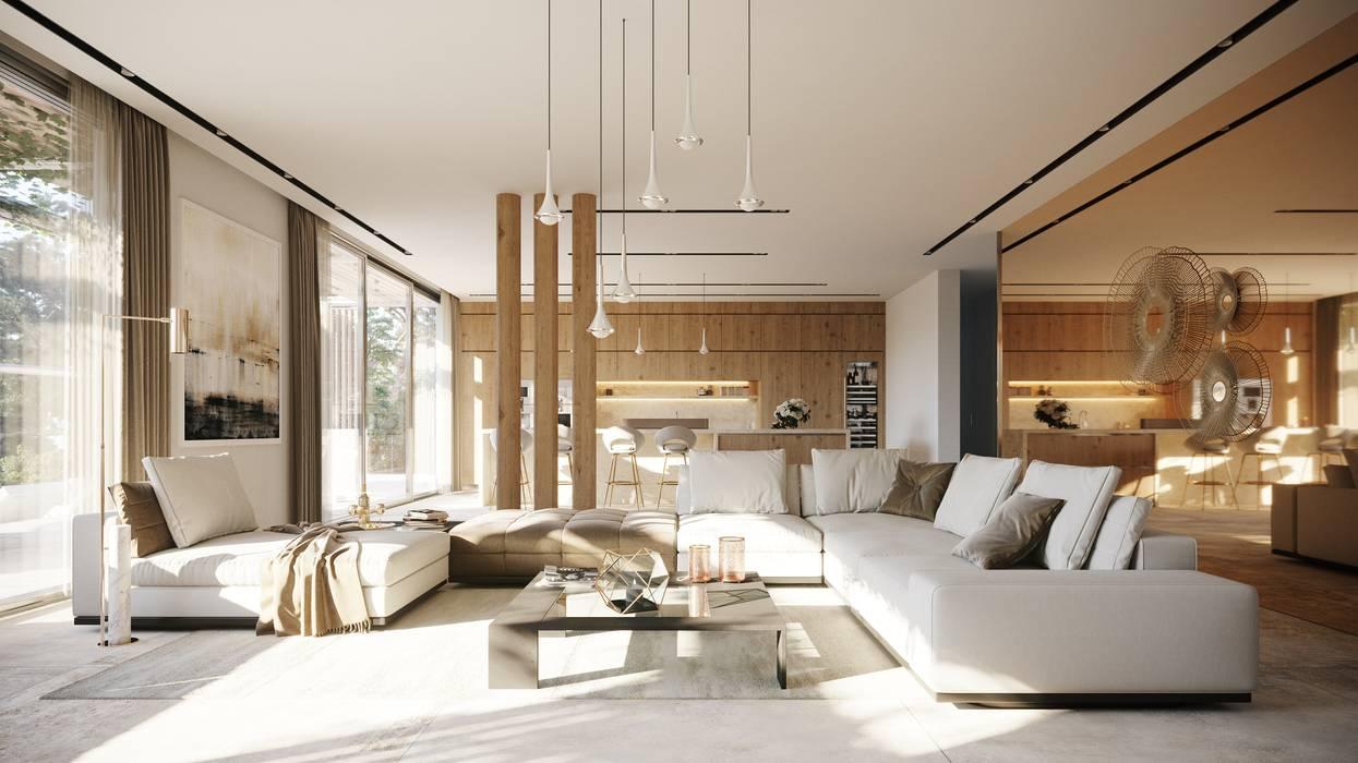 Mediterranean style living room by TABARQ Mediterranean