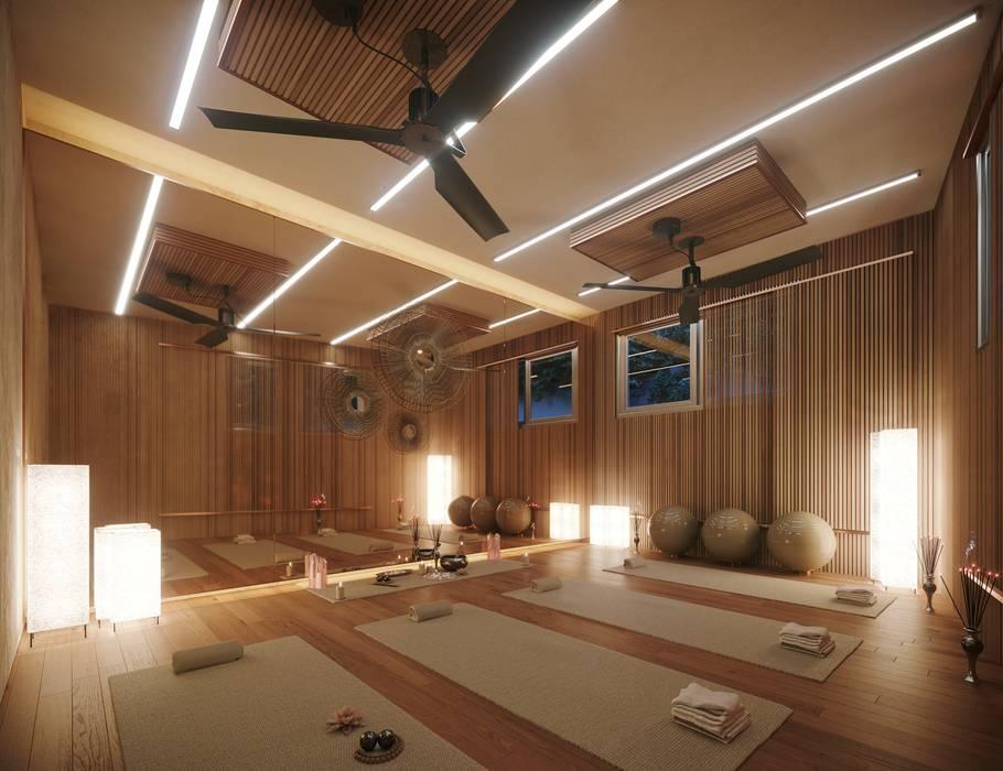 Gimnasios en casa de estilo  por TABARQ