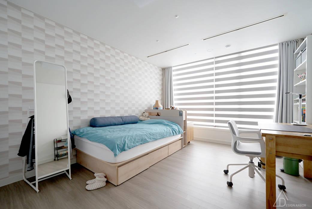 차분한 그레이 인테리어: 디자인 아버의  방