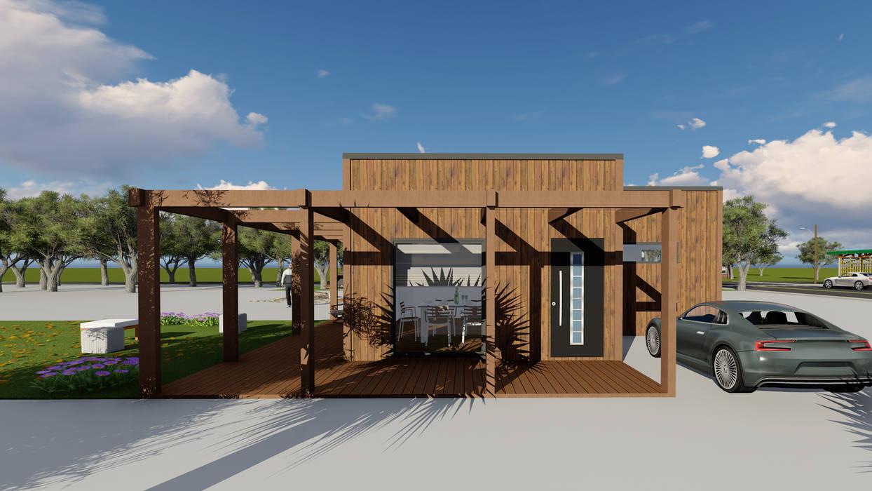Modelo | T3 127m²: Casas pré-fabricadas  por Discovercasa | Casas de Madeira & Modulares,