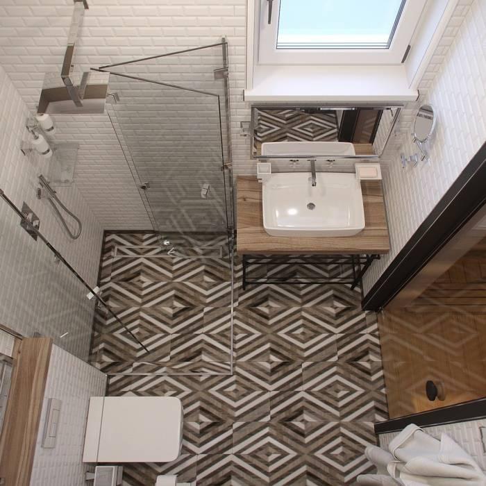 Vintage Bathroom Design Kırsal Banyo Barkod Interior Design Kırsal/Country