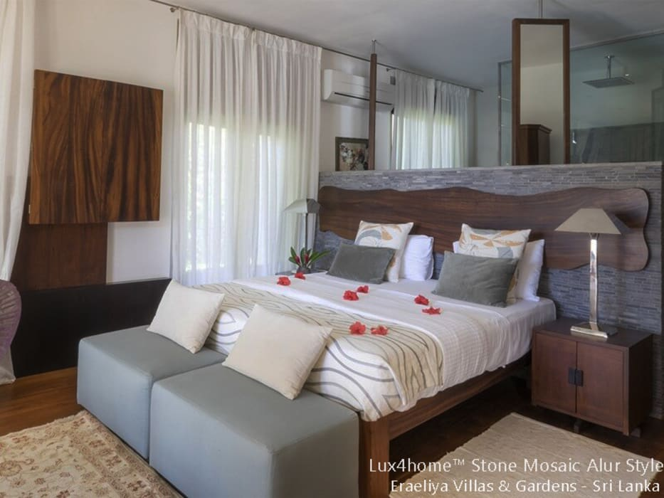 Marble Stone Mosaic Tile Small Bedroom By Lux4home Indonesia Homify