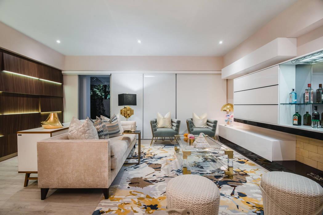 现代客厅設計點子、靈感 & 圖片 根據 Luis Escobar Interiorismo 現代風