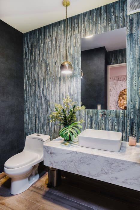 現代浴室設計點子、靈感&圖片 根據 Luis Escobar Interiorismo 現代風