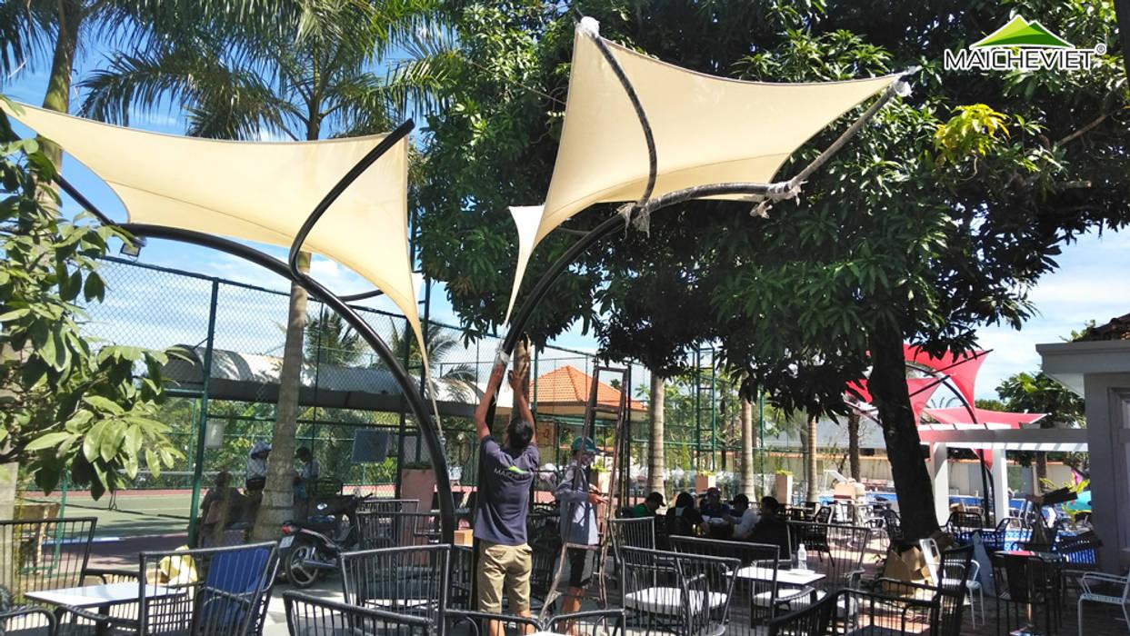 Thiết kế và thi công mái che ngoài trời của quán cà phê Sky Coffee Tiền Giang Công ty TNHH Havico Việt Nam Mái