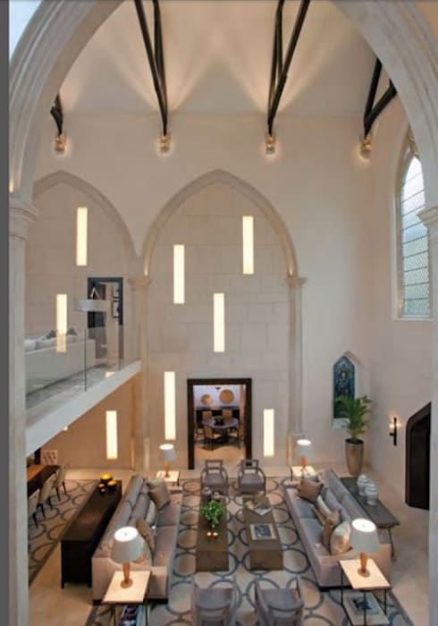 A House in St Saviours Church, Knightsbridge, London:  Living room by 4D Studio Architects and Interior Designers