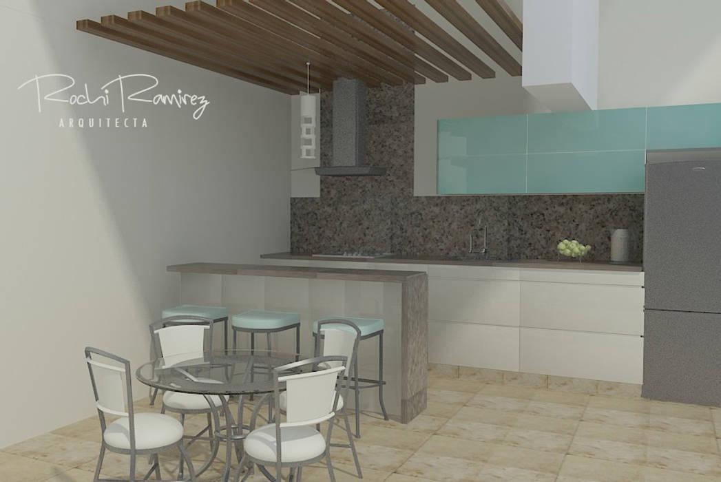 DISEÑO 3D COLOR: Muebles de cocinas de estilo  por Estudio R&R