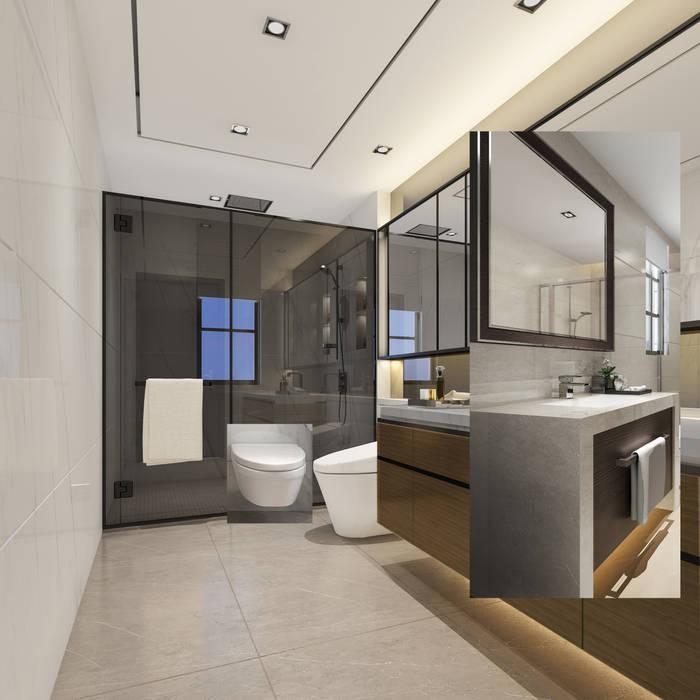 حمام غرفة النوم الرئيسية:  حمام تنفيذ Luxury Solutions, حداثي
