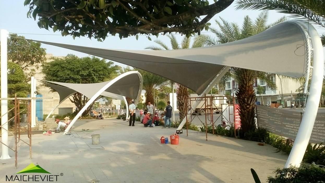 Dự án mái che khu đô thị Phú Cường Rạch Giá Kiên Giang:  Vườn by Công ty TNHH Havico Việt Nam, Hiện đại