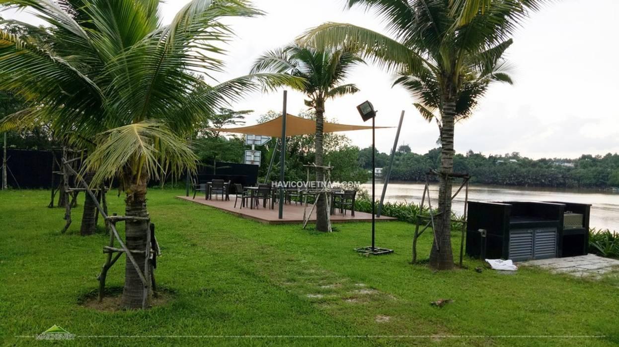 Mái che tại Đại Phước Lotus Đồng Nai Vườn phong cách tối giản bởi Công ty TNHH Havico Việt Nam Tối giản