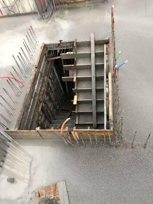 3F柱牆4F版灌漿完成 根據 讚基營造有限公司