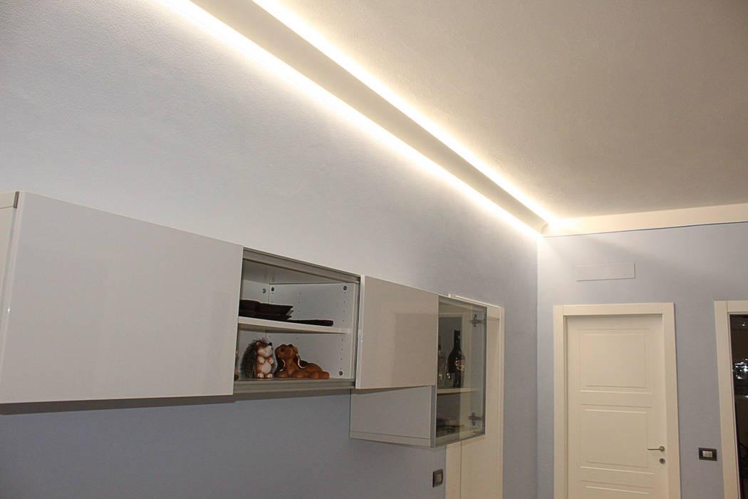 Cornice a doppio taglio di luce diffusa led a soffitto el