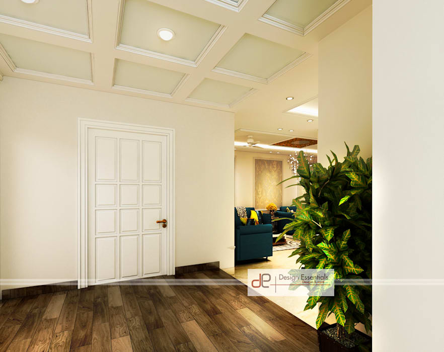 Entrance foyer view-1 Colonial style doors by Design Essentials Colonial