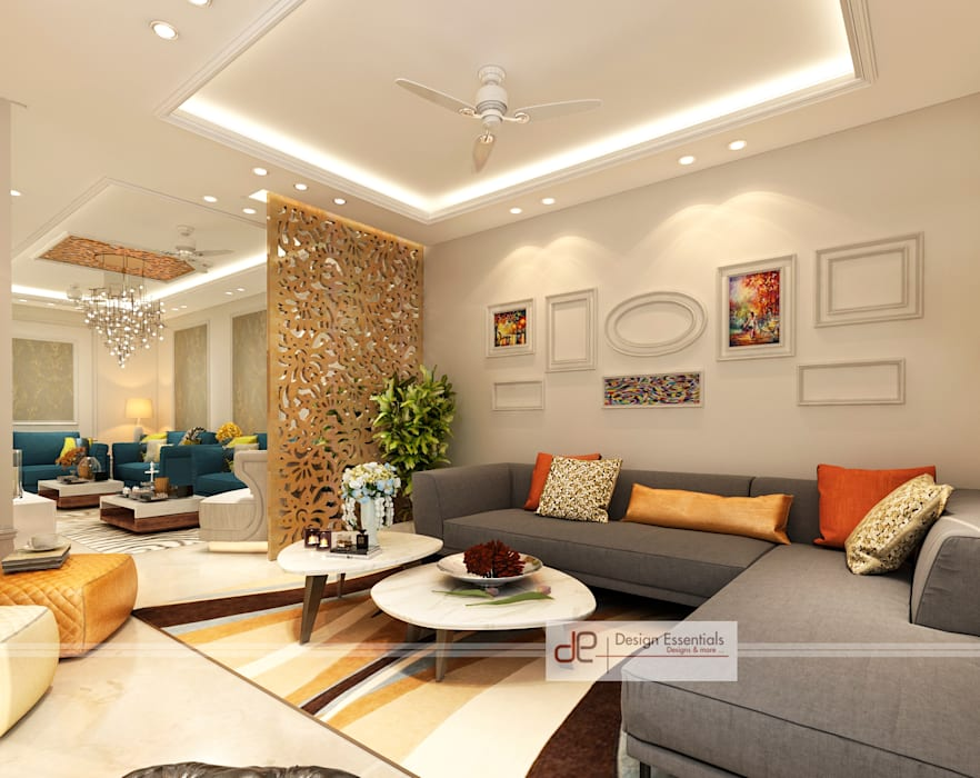 Liiving room:  Living room by Design Essentials,